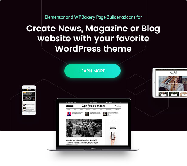 Epic News Elements - News Magazine Blog Element & Blog Add Ons for Elementor & WPBakery Page Builder 4