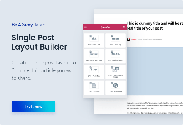 Epic News Elements - News Magazine Blog Element & Blog Add Ons for Elementor & WPBakery Page Builder 9