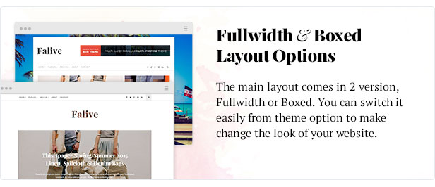 Falive - Beautiful Creative & Fashion Blog Theme