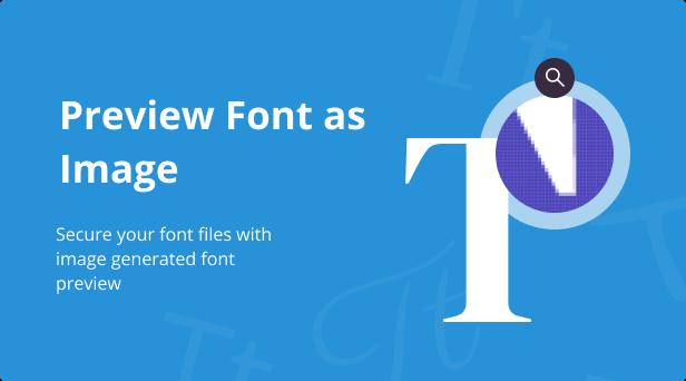 Jeg Font Preview - Easy Digital Downloads Extension WordPress Plugin - 2