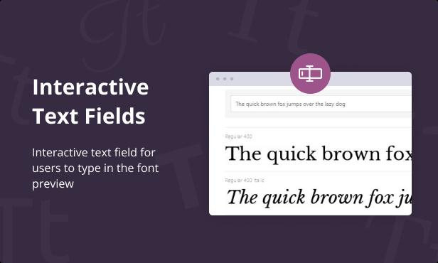 Jeg Font Preview - WooCommerce Extension WordPress Plugin - 4