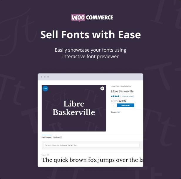 Jeg Font Preview - WooCommerce Extension WordPress Plugin - 1