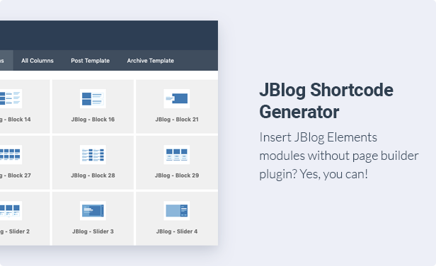 JBlog Elements - Magazine & Blog Add Ons for Elementor & WPBakery Page Builder - 4
