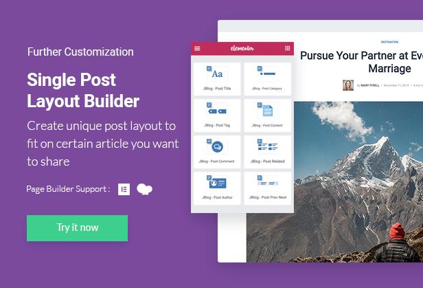 JBlog Elements - Suplementos para revistas e blogs para Elementor e WPBakery Page Builder - 5
