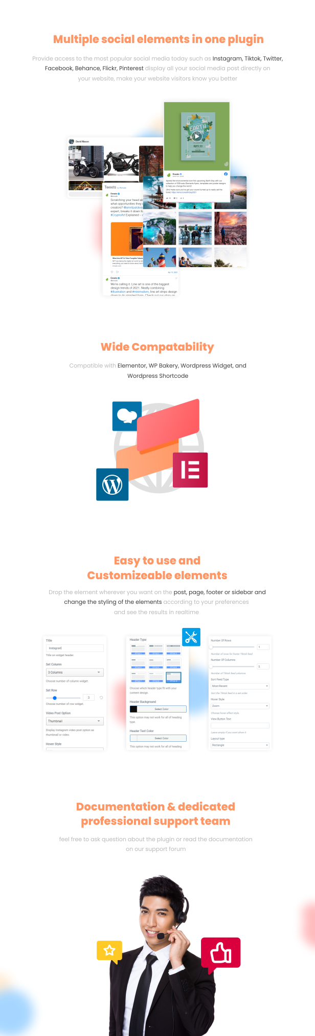 Jeg Social Feed for WordPress Widget Shortcode & Add Ons for Elementor & WPBakery Page Builder - 1